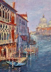 Sunny Day, Grand Canal by Lana Okiro -  sized 20x28 inches. Available from Whitewall Galleries